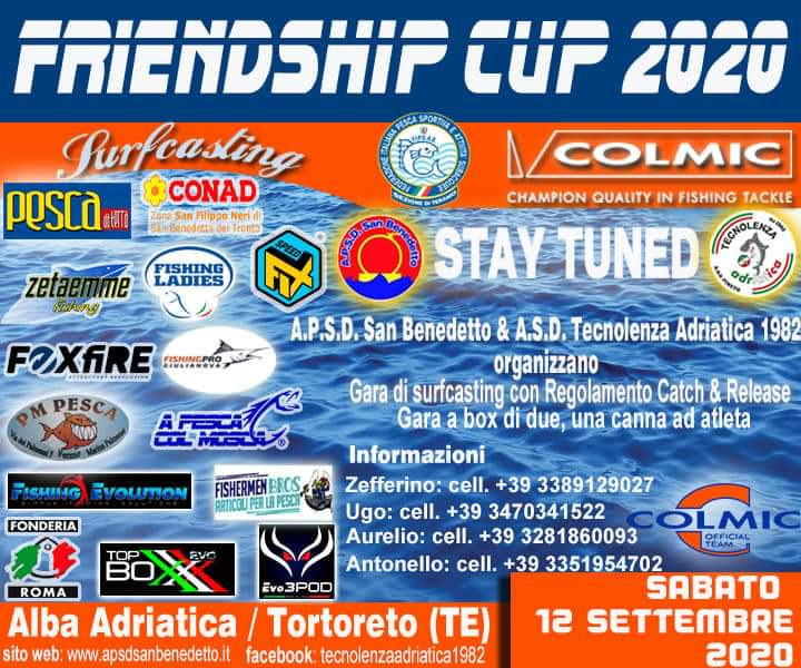 FRIENDSHIP CUP DI SURFCASTING 2020